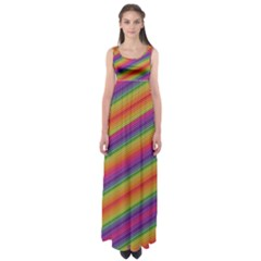 Spectrum Psychedelic Green Empire Waist Maxi Dress