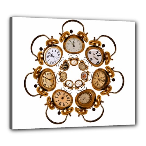 Time Clock Alarm Clock Time Of Canvas 24  X 20