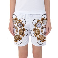 Time Clock Alarm Clock Time Of Women s Basketball Shorts