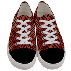 Woven2 Black Marble & Copper Paint Women s Low Top Canvas Sneakers