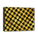 HOUNDSTOOTH2 BLACK MARBLE & GOLD PAINT Deluxe Canvas 16  x 12   View1