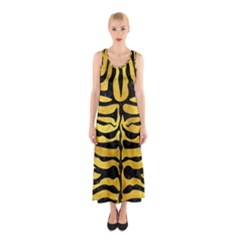 Skin2 Black Marble & Gold Paint Sleeveless Maxi Dress