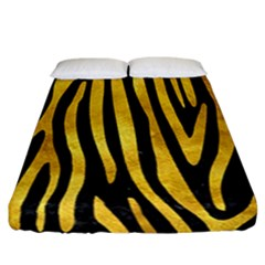 Skin4 Black Marble & Gold Paint Fitted Sheet (california King Size)