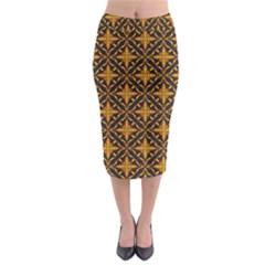 Christmas Pattern Midi Pencil Skirt