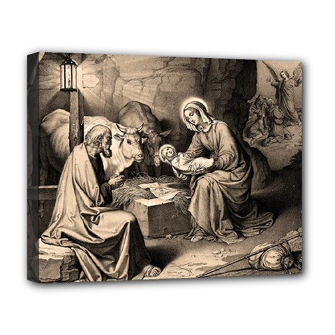 The Birth Of Christ Deluxe Canvas 20  X 16