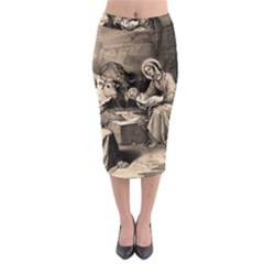 The Birth Of Christ Midi Pencil Skirt