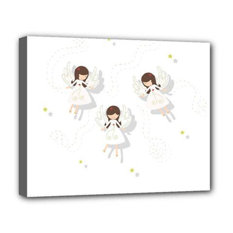 Christmas Angels  Deluxe Canvas 20  X 16