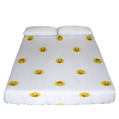 Happy Sun Motif Kids Seamless Pattern Fitted Sheet (california King Size)
