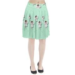 Christmas Angels  Pleated Skirt