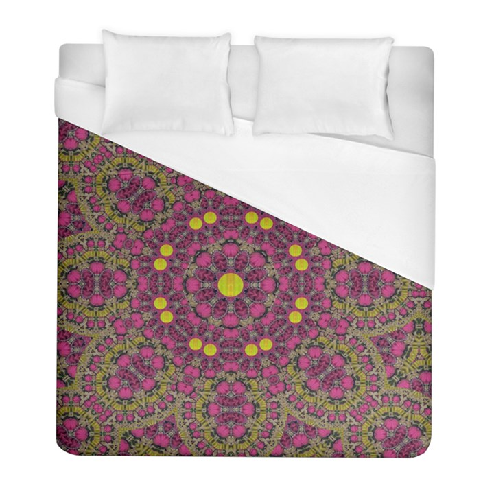 Butterflies  Roses In Gold Spreading Calm And Love Duvet Cover (Full/ Double Size)