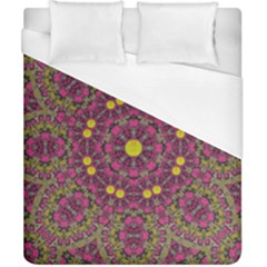 Butterflies  Roses In Gold Spreading Calm And Love Duvet Cover (california King Size)