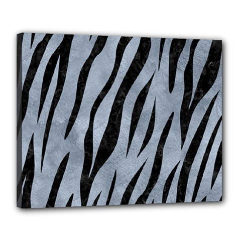 Skin3 Black Marble & Silver Paint Canvas 20  X 16