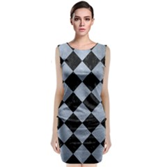 Square2 Black Marble & Silver Paint Classic Sleeveless Midi Dress