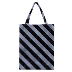 Stripes3 Black Marble & Silver Paint Classic Tote Bag
