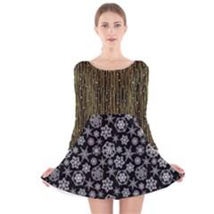 Long Sleeve Velvet Skater Dress