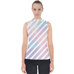 Colored Candy Striped Shell Top
