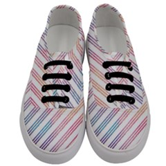 Colored Candy Striped Men s Classic Low Top Sneakers