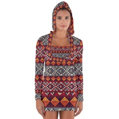 Aztec Mayan Inca Pattern 7 Long Sleeve Hooded T Shirt