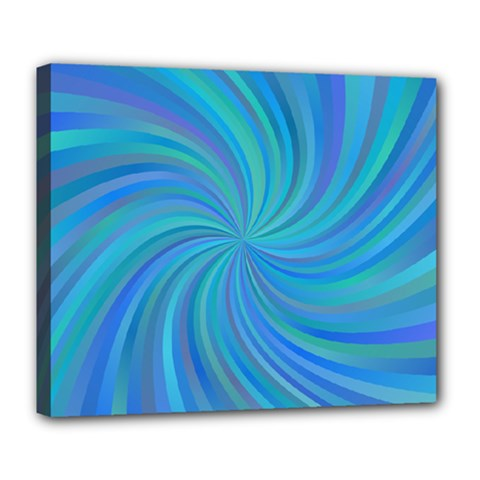 Blue Background Spiral Swirl Deluxe Canvas 24  X 20