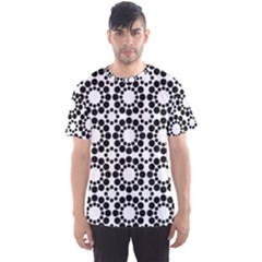 Black White Pattern Seamless Monochrome Men s Sports Mesh Tee
