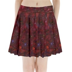 Abstract Fantasy Color Colorful Pleated Mini Skirt