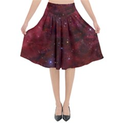 Abstract Fantasy Color Colorful Flared Midi Skirt