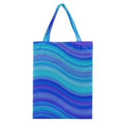 Blue Background Water Design Wave Classic Tote Bag