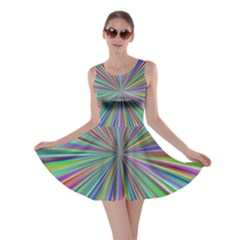 Burst Colors Ray Speed Vortex Skater Dress