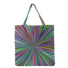 Burst Colors Ray Speed Vortex Grocery Tote Bag