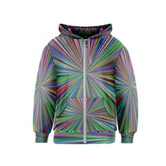 Burst Colors Ray Speed Vortex Kids  Zipper Hoodie