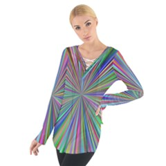 Burst Colors Ray Speed Vortex Tie Up Tee