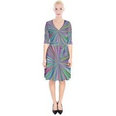 Burst Colors Ray Speed Vortex Wrap Up Cocktail Dress