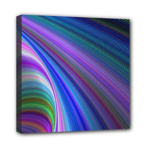 Background Abstract Curves Mini Canvas 8  X 8