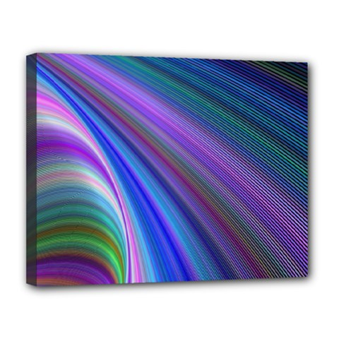 Background Abstract Curves Canvas 14  X 11