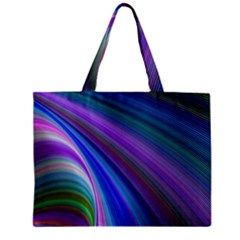 Background Abstract Curves Zipper Mini Tote Bag