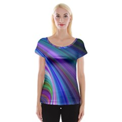 Background Abstract Curves Cap Sleeve Tops