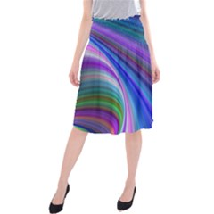 Background Abstract Curves Midi Beach Skirt