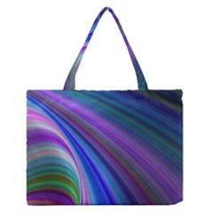 Background Abstract Curves Zipper Medium Tote Bag