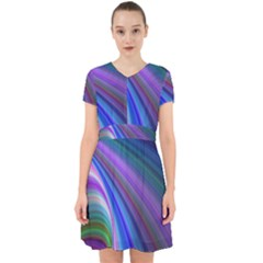 Background Abstract Curves Adorable In Chiffon Dress