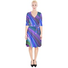 Background Abstract Curves Wrap Up Cocktail Dress