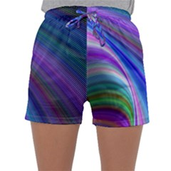 Background Abstract Curves Sleepwear Shorts