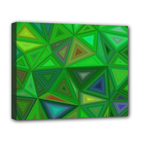 Green Triangle Background Polygon Deluxe Canvas 20  X 16