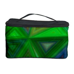 Green Triangle Background Polygon Cosmetic Storage Case