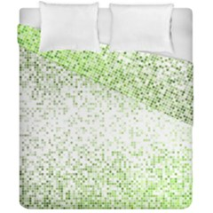 Green Square Background Color Mosaic Duvet Cover Double Side (california King Size)