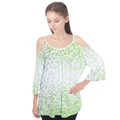 Green Square Background Color Mosaic Flutter Tees