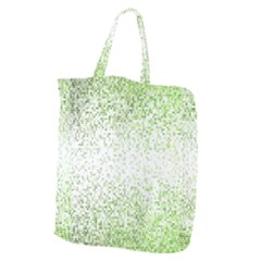 Green Square Background Color Mosaic Giant Grocery Zipper Tote