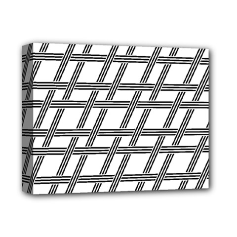 Grid Pattern Seamless Monochrome Deluxe Canvas 14  X 11