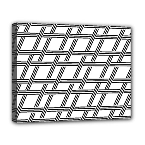 Grid Pattern Seamless Monochrome Deluxe Canvas 20  X 16