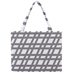 Grid Pattern Seamless Monochrome Mini Tote Bag
