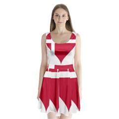 Heart Love Flag Denmark Red Cross Split Back Mini Dress